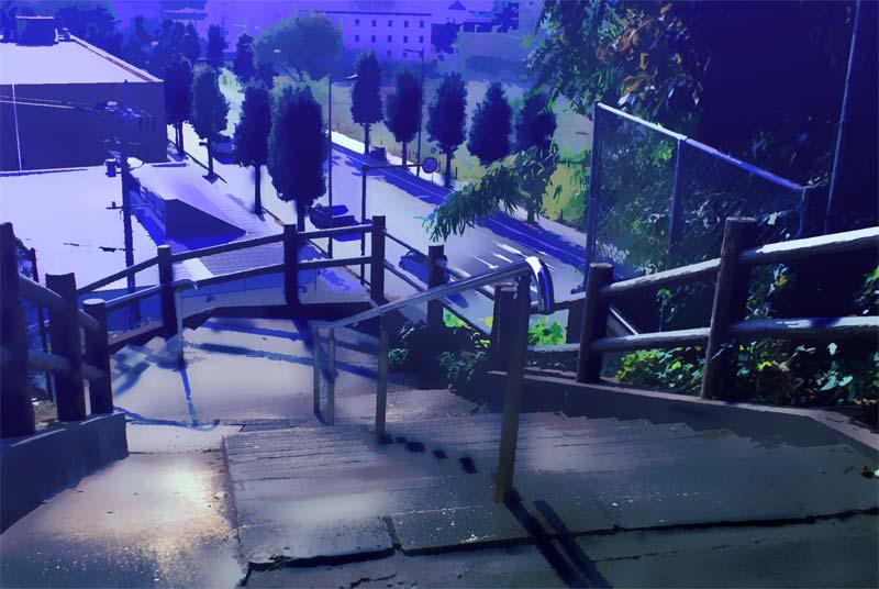 新海誠 階段