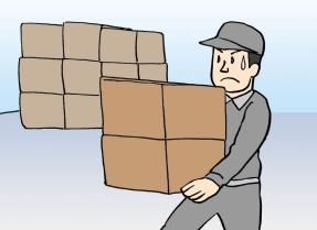 汗を流して働く男性-債務整理日記