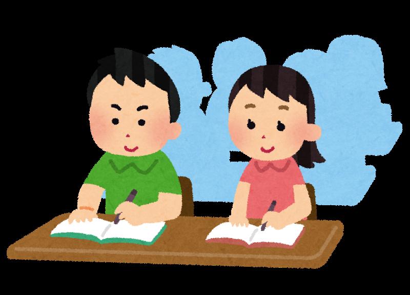 教室で勉強する-債務整理日記
