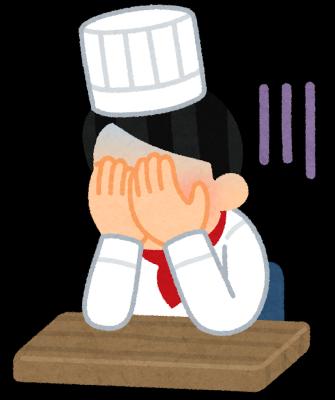 コロナで経営難になりふさぎ込むレストランのオーナーシェフ
