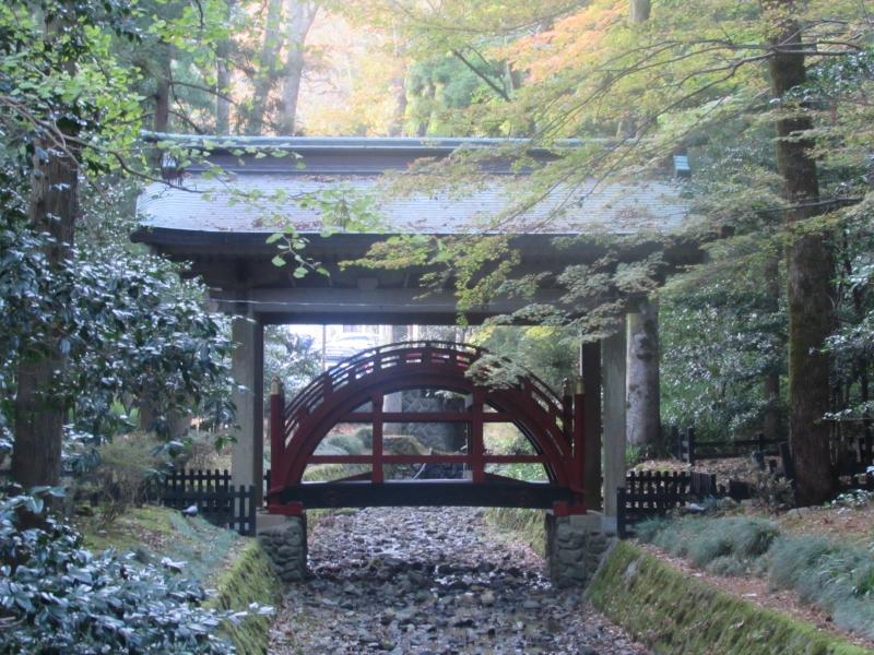 「弥彦神社(彌彦神社)」の玉の橋(たまのはし)