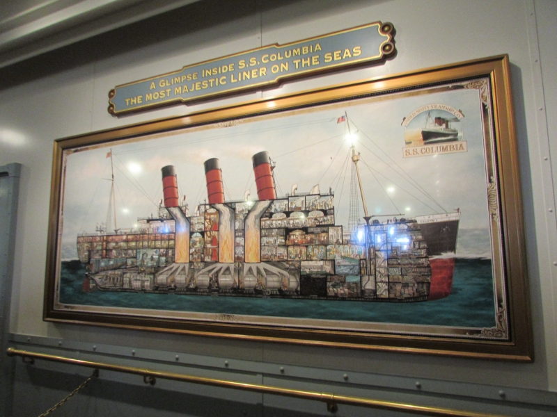 二十世紀初頭の豪華客船SSコロンビア号