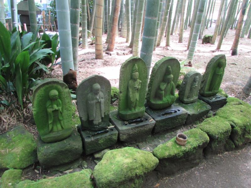 報国寺の竹の庭とお地蔵様