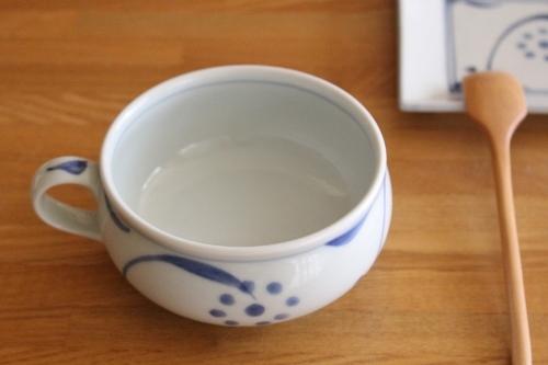 砥部焼:梅山窯:スープカップ