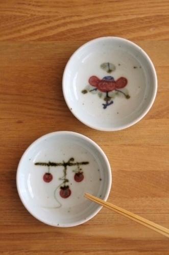 砥部焼・中田窯:くらわんか茶碗、二寸五分小皿