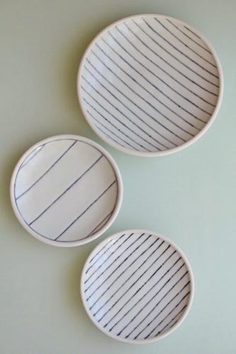 砥部焼・梅乃瀬窯:五寸皿/六寸皿