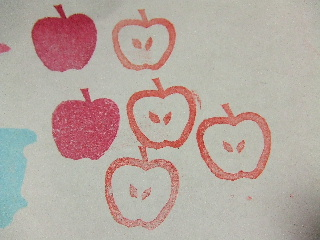 りんごはんこ