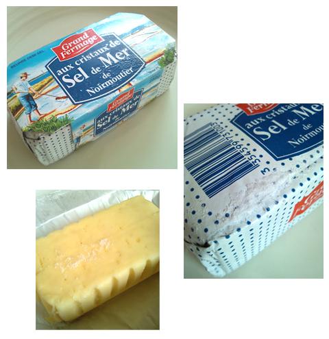フランスの塩バター