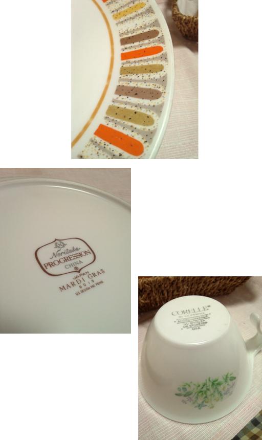 ノリタケ【Noritake】とコレール【CORELLE】のヴィンテージ食器を発見。