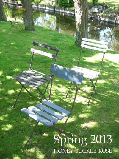 ハニーサックルローズ spring2013 木陰の椅子