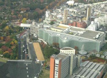 青山霊園と国立新美術館