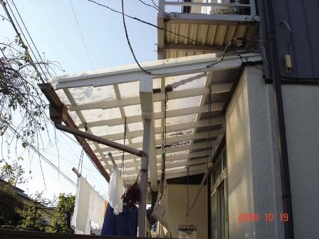 改修後のテラス屋根
