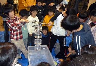 大気圧のサイエンスショー