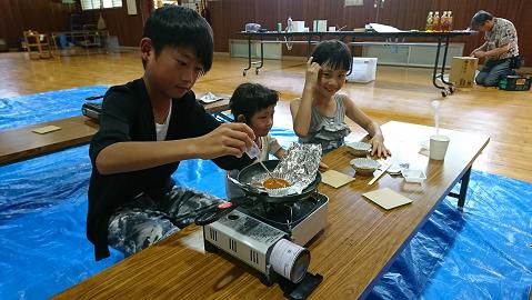 カルメ焼き製作3