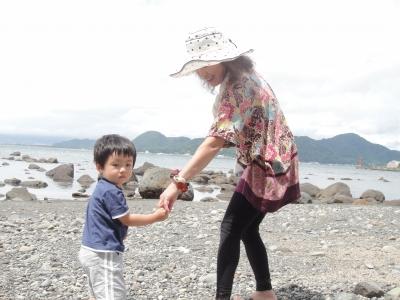 おばあちゃんと海