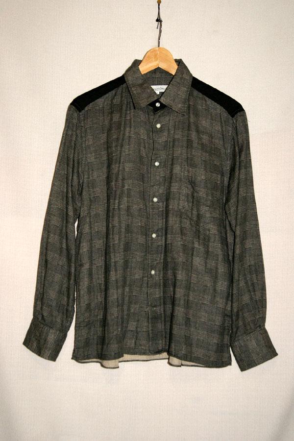 中古【International Gallery BEAMS ビームス】肩切り替えチェックシャツ