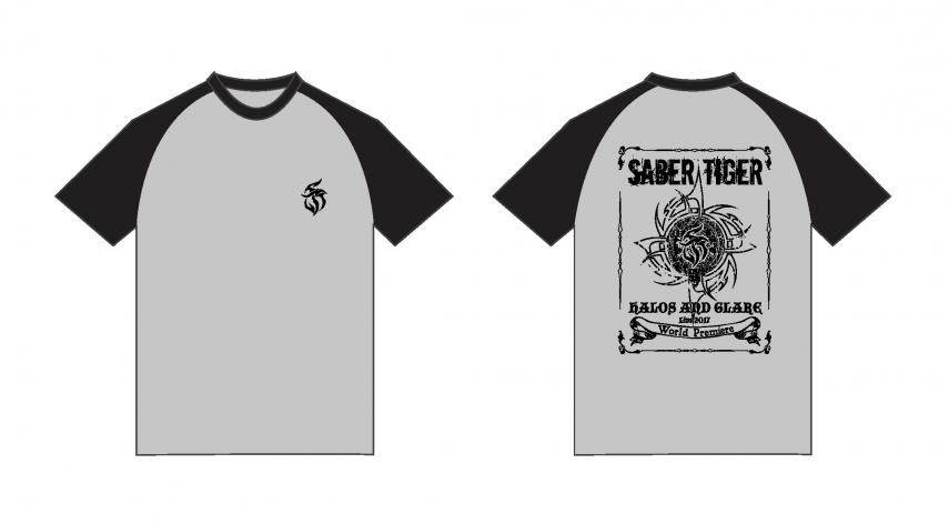 SABER TIGER 新グッズ情報・その1【ライヴTシャツ】
