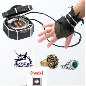 海賊のパイレーツオブカリビアン ジャックスパロウのコスチューム用 アクセサリーキット