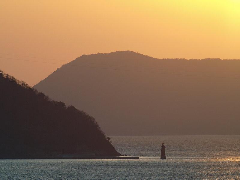 与島S.A.から見た瀬戸内夕焼け