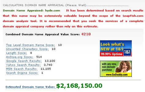 hyde.comの価値は・・・