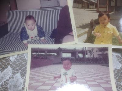 私の赤ちゃんの頃