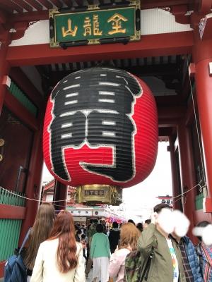 浅草寺にきました。