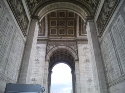 凱旋門の下