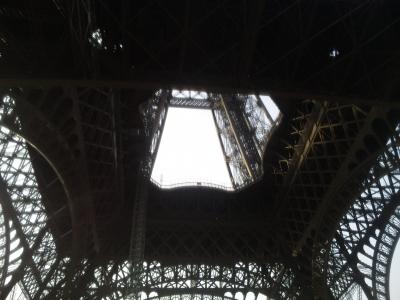 エッフェル塔の下から