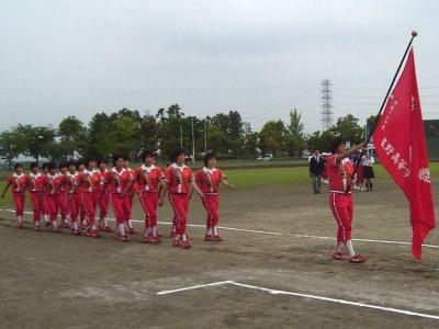 星野高校開会式での入場行進