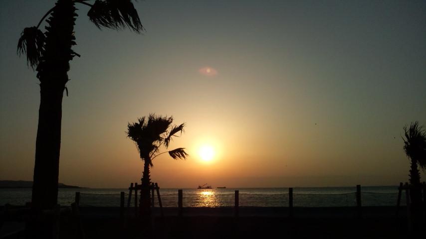 館山の夕日ハワイ