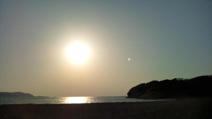 沖の島の夕日
