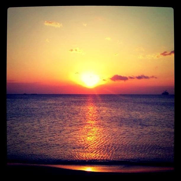 きれいな館山の夕日