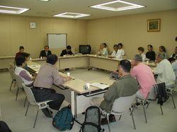 都庁での東京都教育委員会へ申し入れ。