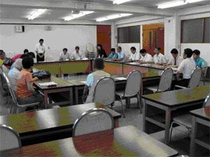 7/14 小金井市役所で 同市が平和市長会議に加盟した