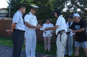 7.16 海上自衛隊、下総基地への申し入れ行動