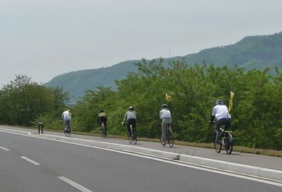 千曲川堤防を走る