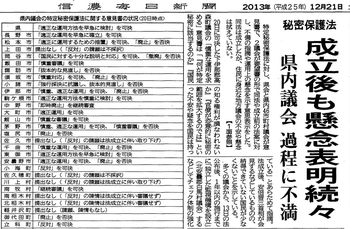 2013.12.21信濃毎日新聞2面