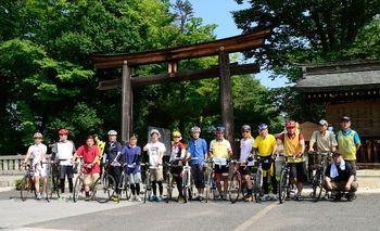 長野市松代町を出発する「2014長野ピースサイクル」
