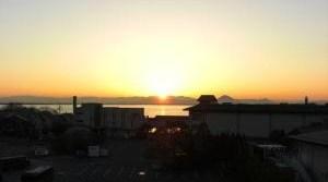 琵琶湖のご来光