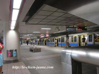 MRTの駅構内