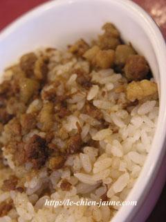 魯肉飯のアップ