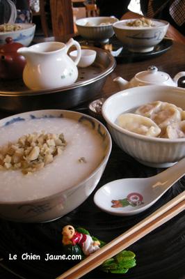 水餃子とおかゆ