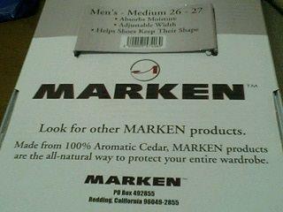 MARKEN シューツリー パッケージ