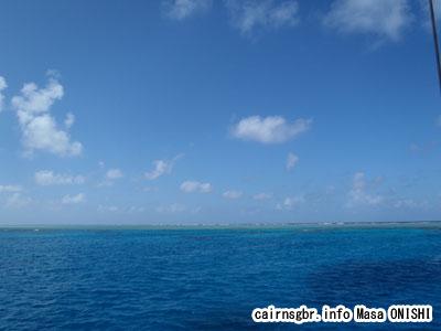 船上からのコーラルシーの景色