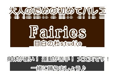 大人のための初めてバレエ Fairies(フェアリーズ) 目白の杜studio