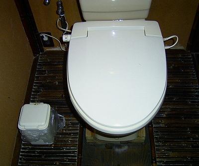 トイレに入ると床もびっしりと、うるしの床でした