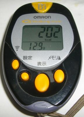 消費カロリー:202キロカロリー・脂肪燃焼量:12.9g