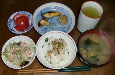 4月 4日(月):晩ご飯〜481キロカロリー