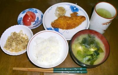 4月11日(月):晩ご飯〜523キロカロリー