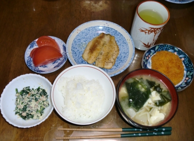 4月15日(金):晩ご飯〜535キロカロリー